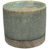 Turquoise & Brown Textured Flower Pot