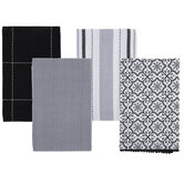 Assorted Achromatic Kitchen Towels
