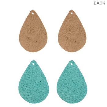 Teardrop Leather Earring Blanks