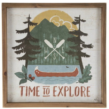 Time To Explore Wood Wall Decor