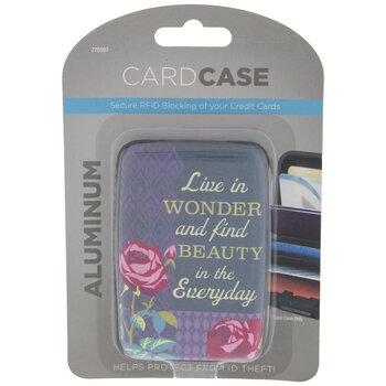 Inspirational Aluminum Card Case