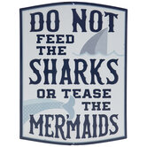 Sharks & Mermaids Metal Sign