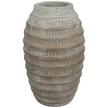 Distressed Metallic Ribbed Vase
