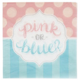 Pink Or Blue Reveal Napkins - Large