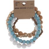 Blue & Neutrals Bead Bracelets