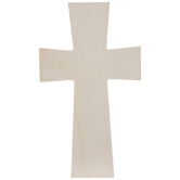 Squared Wood Wall Cross