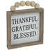 Thankful Grateful Blessed Wood Wall Decor