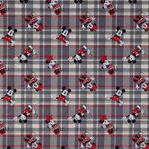 Mickey & Minnie Plaid Cotton Calico Fabric