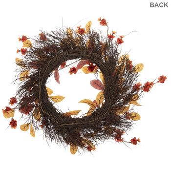 Orange Hop & Leaf Wreath