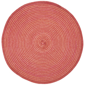 Pink Ombre Braided Round Placemat