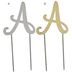 Letter Metal Cake Topper - A