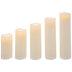 Cream LED Pillar Candles