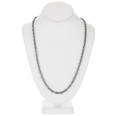 Plated Hematite Cable Chain Necklace - 30""