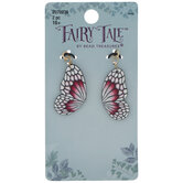 Pink & White Butterfly Wing Charms