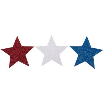 Red, White & Blue Glitter Foam Stars