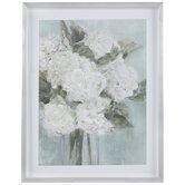 White Hydrangea Framed Wall Decor
