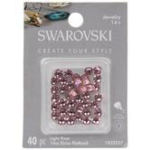 Light Rose Swarovski Xirius Flatback Crystals - 16ss