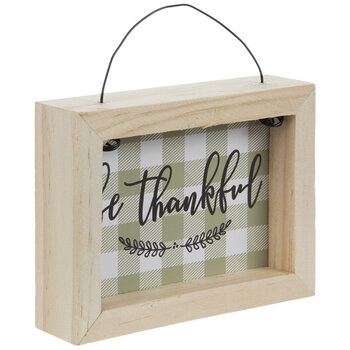 Be Thankful Gingham Sign Ornament