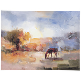 Impressionist Horse Canvas Wall Decor