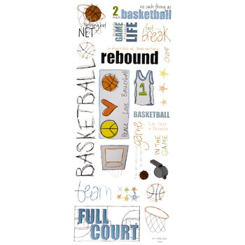 Basketball Doodles Stickers