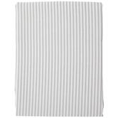 White & Gray Striped Tablecloth