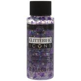 Lavender Glitterific Heart Icons Folkart Acrylic Paint