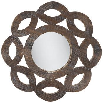 Round Scalloped Wood Wall Mirror Hobby Lobby 1810852