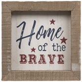 Home Of The Brave Wood Wall Decor
