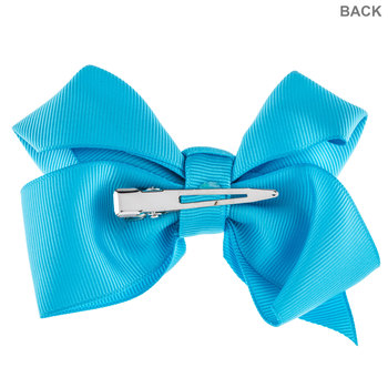 Turquoise Grosgrain Bow Hair Clip
