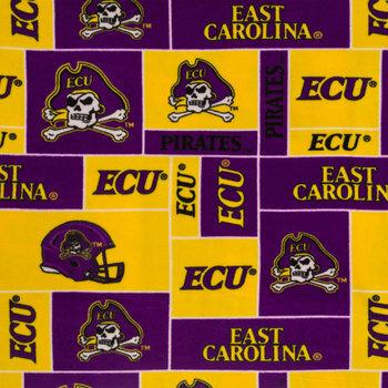 East Carolina Block Collegiate Fleece Fabric