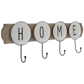Home Wood Wall Decor With Hooks