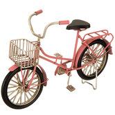 Pink Metal Bike With Basket