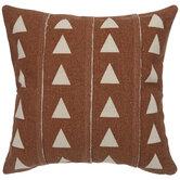 Burnt Orange & Beige Triangle Pillow Cover