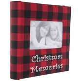 Red & Black Buffalo Check Christmas Memories Photo Album