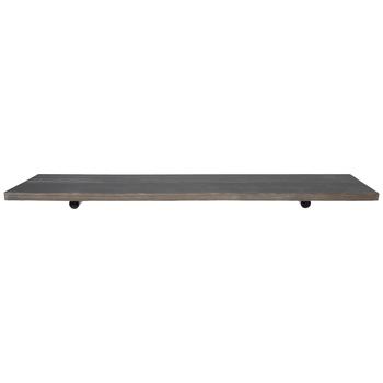 Silver Rustic Barnwood Wall Shelf