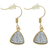 Glitter Triangle Earrings