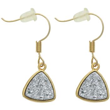 Glitter Triangle Earrings