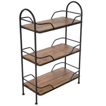 Black Metal Three-Tiered Shelf