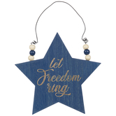 Let Freedom Ring Star Ornament