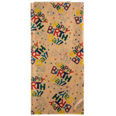 Kraft Happy Birthday Tissue Paper