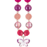 Pink & Purple Chunky Bead Necklace