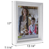 Rustic White Stepped Wall Frame - 11