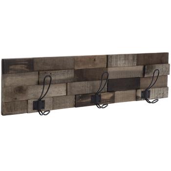Wood Slats Wall Decor With Hooks
