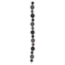 Black & Gray Rhinestone Ball Bead Strand