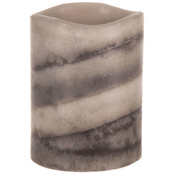 Gray Layered LED Pillar Candle
