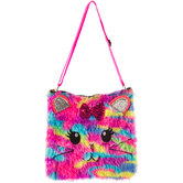 Fuzzy Cat Sling Bag