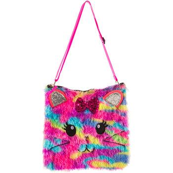 Fuzzy Cat Sling Bag