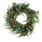 Eucalyptus, Holly & Berry Wreath