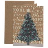 Kraft Christmas Tree Cards