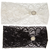Lace & Pearl Stretch Headbands